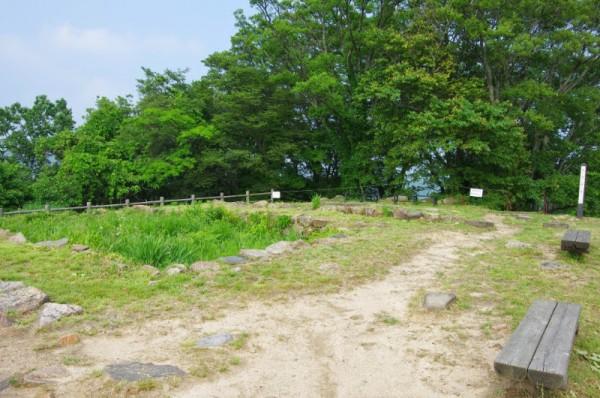 山上ノ丸の天守櫓跡