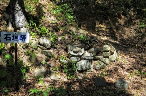 わずかながら、石積みの遺構が残っていた