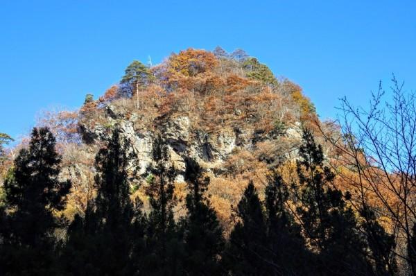 この山頂には岩櫃城の支城(出丸)である柳沢城があった