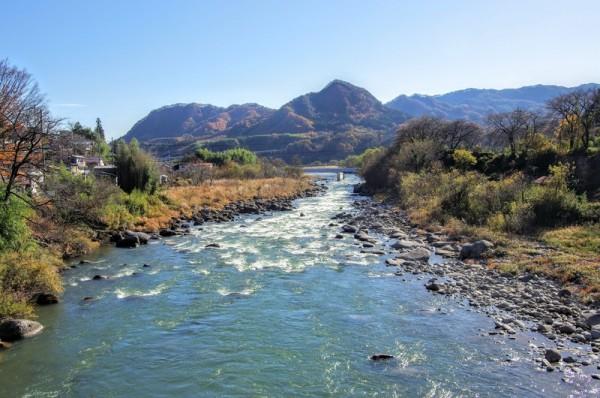 坂東太郎(利根川)の先にある山は狼煙台のあた天狗山