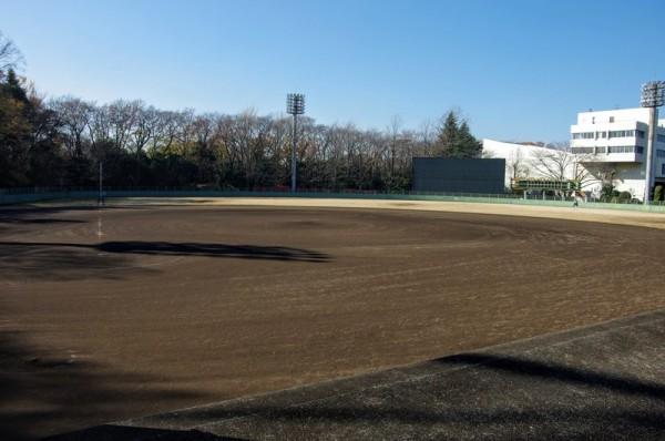 現在は野球場と、さいたま市民会館が建っていた