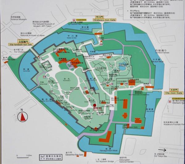 皇居東地区には江戸城の三の丸と二の丸の一部、そして本丸が含まれている