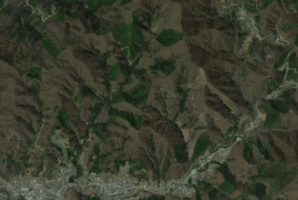 甲斐武田家の終焉と地となった現在の田野の郷の周辺の様子