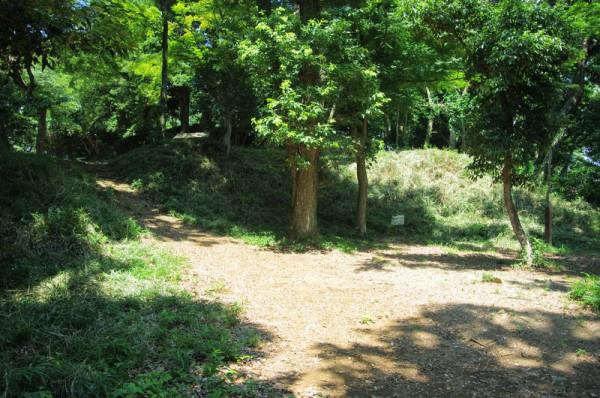 本城曲輪より低い場所にあり、周囲は土塁で囲まれていた