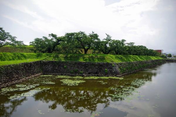 裏門側は亀田川からとってきた石を野面積みした状態だった