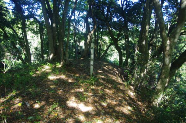 二ノ丸の尾根内側に設けられていた郭で、この下は急崖だった