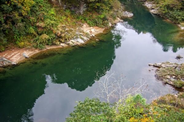 往時、この長走の瀬には武田軍が敷設した鳴子の網があったと云う