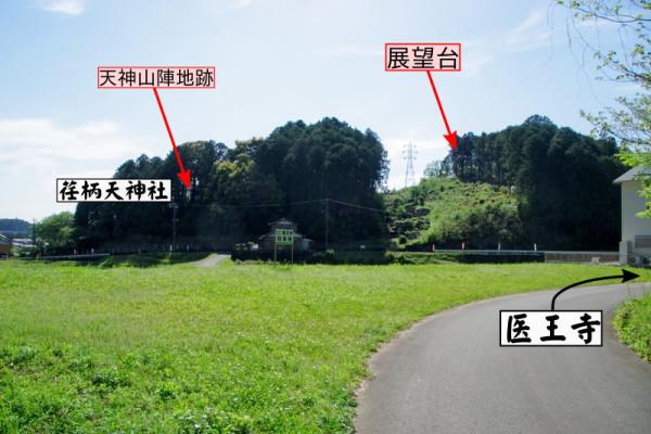 このまま林道を道なりに進んでいくと医王寺が見えてくる