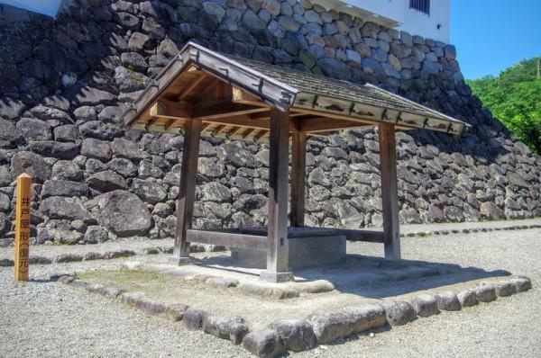 大櫓と一緒に復元された井戸であるが、古絵図では存在を確認できず
