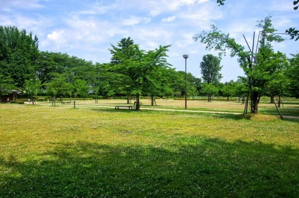 二ノ丸内のその大部分は公園化されていたが、周囲の土塁は健在だった