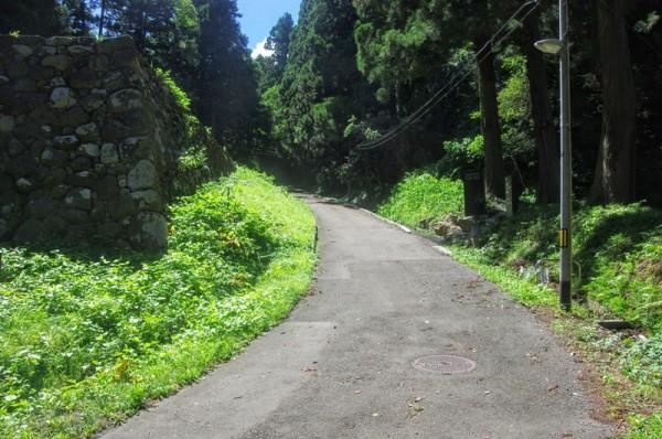この右奥が仙台藩御用酒発祥とされる名水の源流である湧水がある