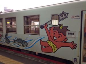 若桜鉄道のマスコットキャラクターは鬼